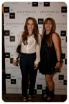 "With Rosie Fortescue from ""Made In Chelsea"" at her blog's launch party"