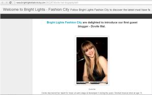 bright light fashion city bio