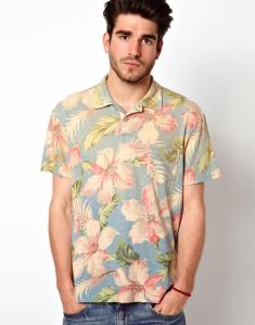 Polo Shirt In Hawaiian Print
